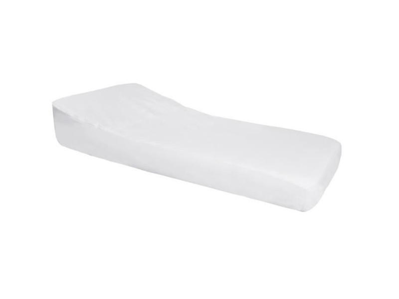Doux nid nova drap housse imperméable pro secur spécial plan incliné 15° - perle / blanc - 60x120 cm