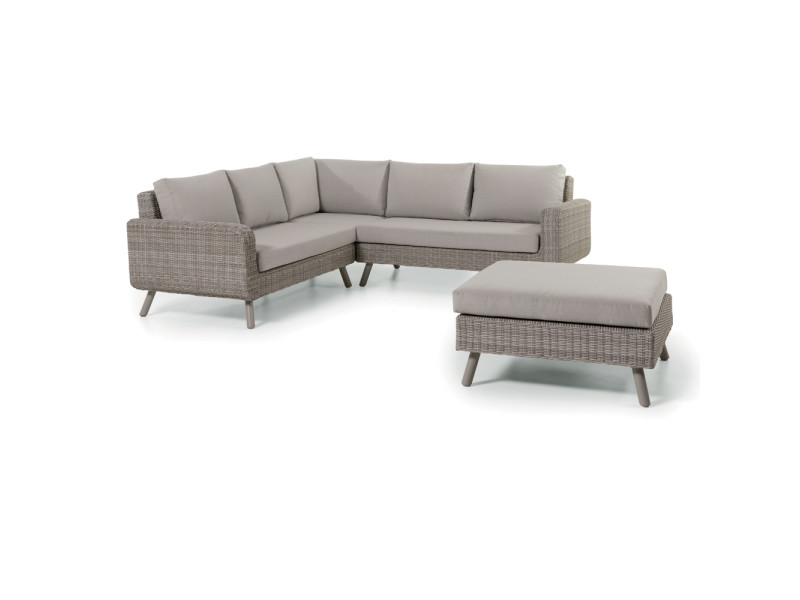 salon d 39 angle de jardin en r sine tress e cappuccino utica. Black Bedroom Furniture Sets. Home Design Ideas