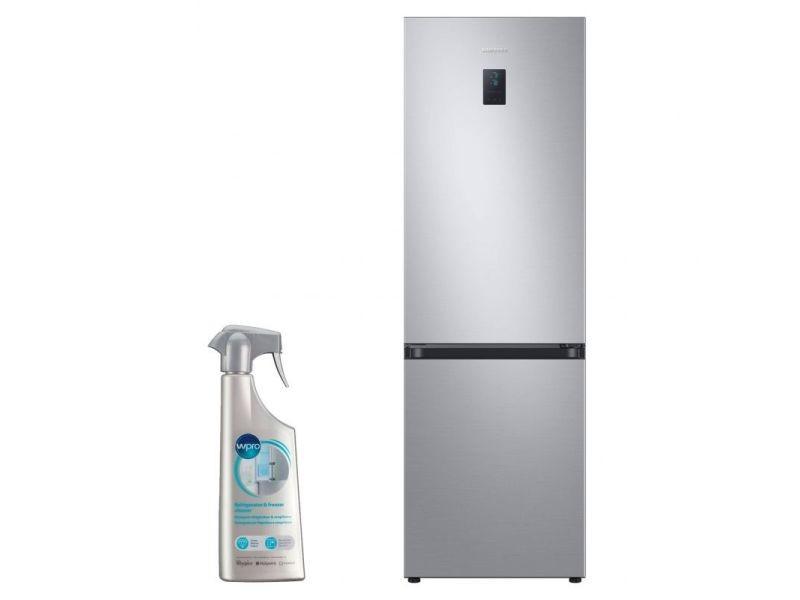 Réfrigérateur frigo combiné inox 340l froid ventilé no frost