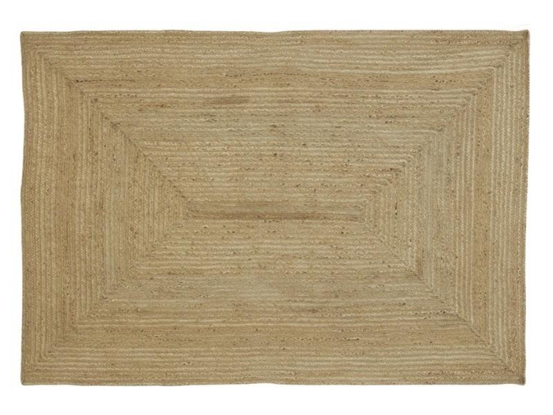 Tapis rectangulaire en jute naturelle 150 x 210
