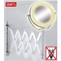 Miroir mural grossissant rétro-éclairé par LED
