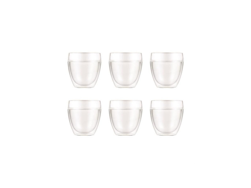 - pavina outdoor - set 6 gobelets double paroi plastique - pc - incassable - 0.25 l BOD0699965398378