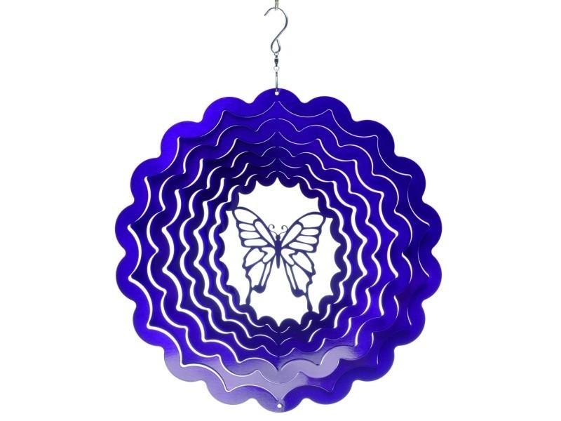 spin art spinners mobile vent papillon violet 15cm. Black Bedroom Furniture Sets. Home Design Ideas