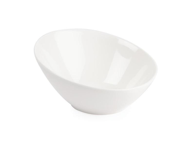 Bols inclinés ovales 250ml lumina - lot de 6 - 0 cm porcelaine 25 cl