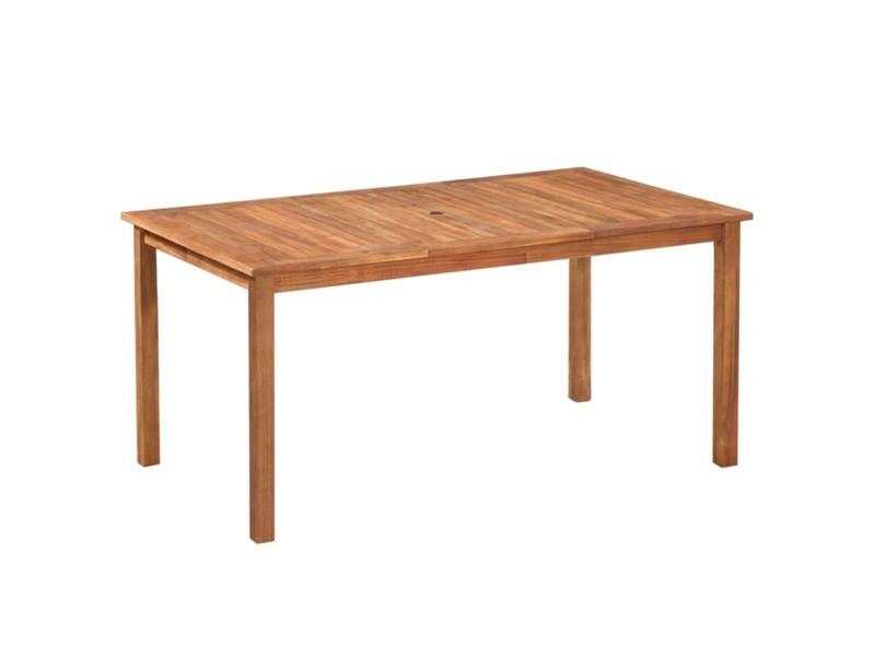 Icaverne - ensembles de meubles d'extérieur reference mobilier d'extérieur 7 pcs résine tressée et bois d'acacia