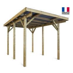 Jardipolys - carport 1 voiture en bois autoportant 17,34 m2 - evolution1