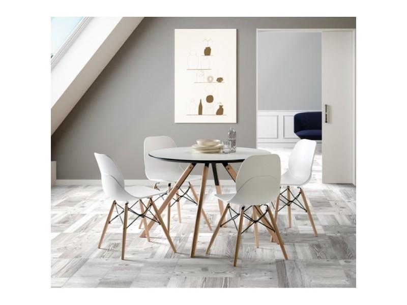 Table de repas ronde 120 cm - hector - l 120 x l 120 x h 73 - neuf