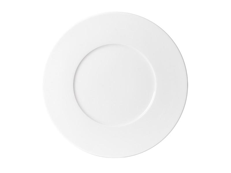 Assiette plate zen blanc 27 cm (lot de 6)