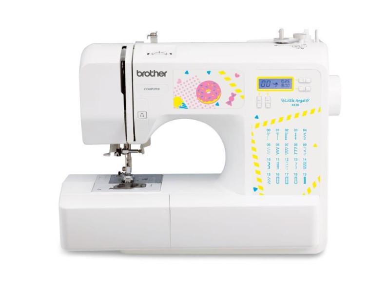 Brother ke20 – machine a coudre électronique pour jeunes créatifs– 20 points de couture – protege-doigts – systeme d'e