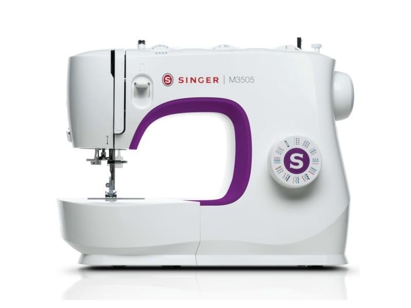 Singer machine à coudre m3505 75 w blanc et violet 432830
