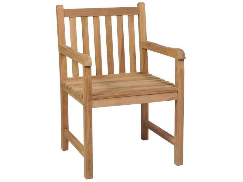Vidaxl ensemble de salle à manger d'extérieur 5pcs bois solide de teck 44999
