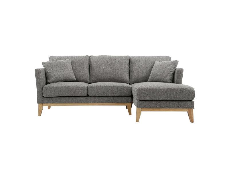 canap d 39 angle droit scandinave gris clair d houssable oslo vente de canap droit conforama. Black Bedroom Furniture Sets. Home Design Ideas