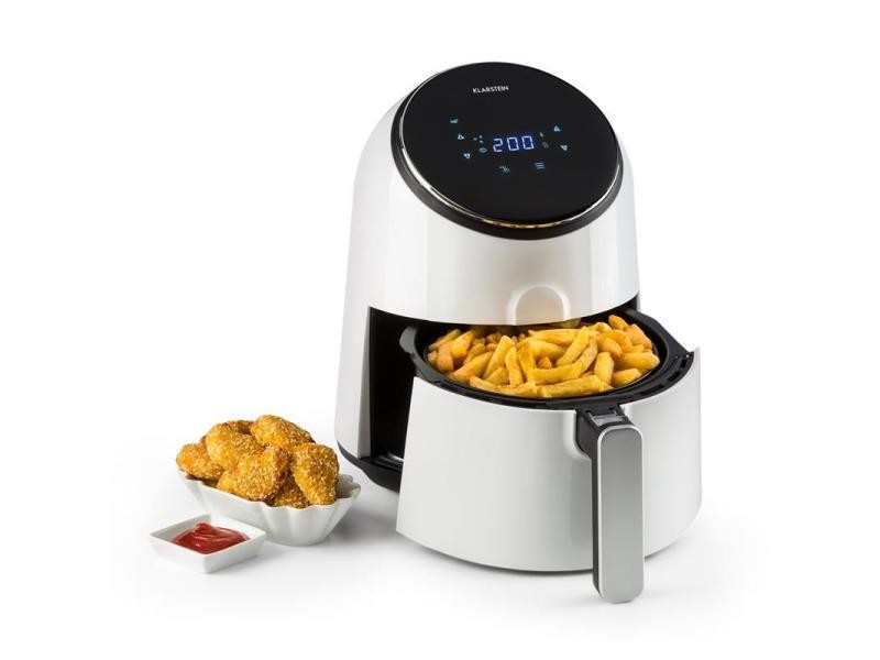 Klarstein airvital friteuse à air chaud 2,5l 1300w 8 programmes - blanche