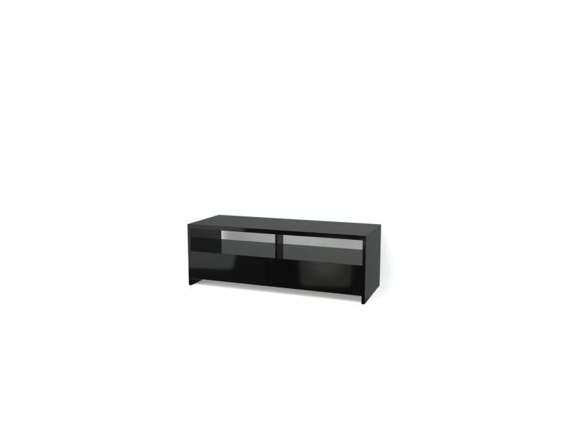 Banco meuble tv contemporain noir brillant - l 110 cm