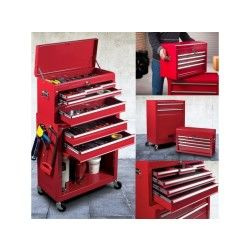 Servante d'atelier 8 tiroirs avec caisse à outils amovible