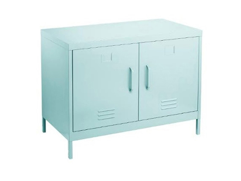 Console avec 2 portes en métal coloris bleu - 91,4 x 45,7 x 63,8 cm -pegane-