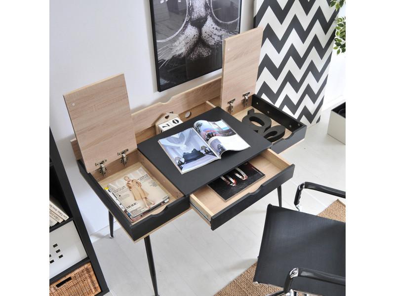 Bureau scandinave bureau design boden cm noir effet
