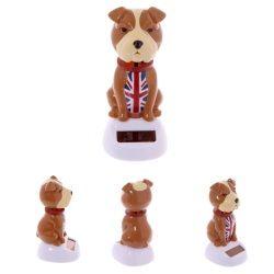 Figurine solaire bulldog anglais