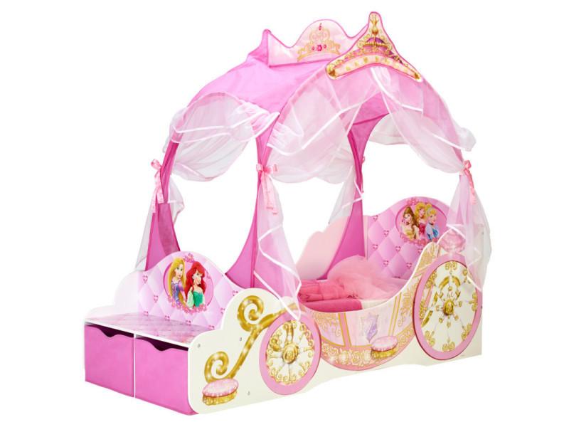 Lit carrosse princesse disney - Vente de Chambre complète - Conforama