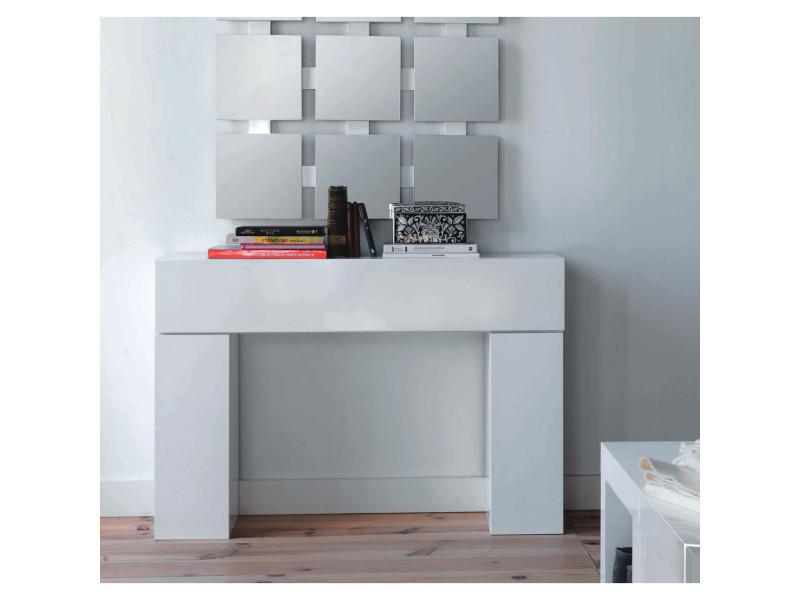 Buffet laqu blanc conforama amazing cool meuble tv blanc laque chez conforama salle manger - Console blanc laque conforama ...