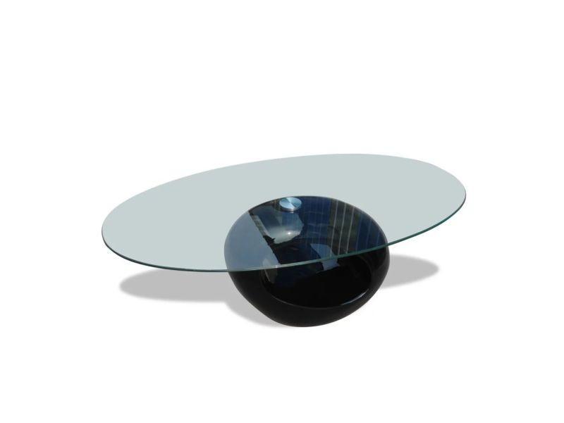 vidaxl table basse avec dessus de table en verre ovale. Black Bedroom Furniture Sets. Home Design Ideas