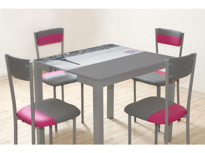 Extensible Table Verre Gris Structure Décor En Paris Bonjour 4rcl35jaq 2HID9EWY