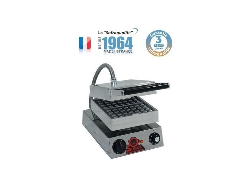 Gaufrier professionnel snacky électrique - 2 gaufres - sofraca -