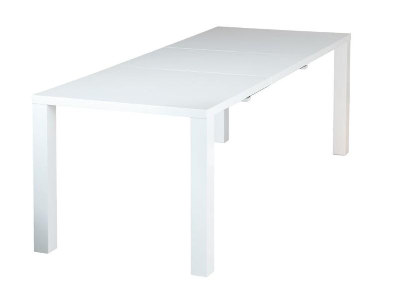 Beautiful table de sjour rallonge design blanc laqu vente for Console a rallonge conforama
