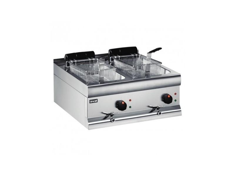 Friteuse électrique 2 x 9 litres avec robinet de vidange