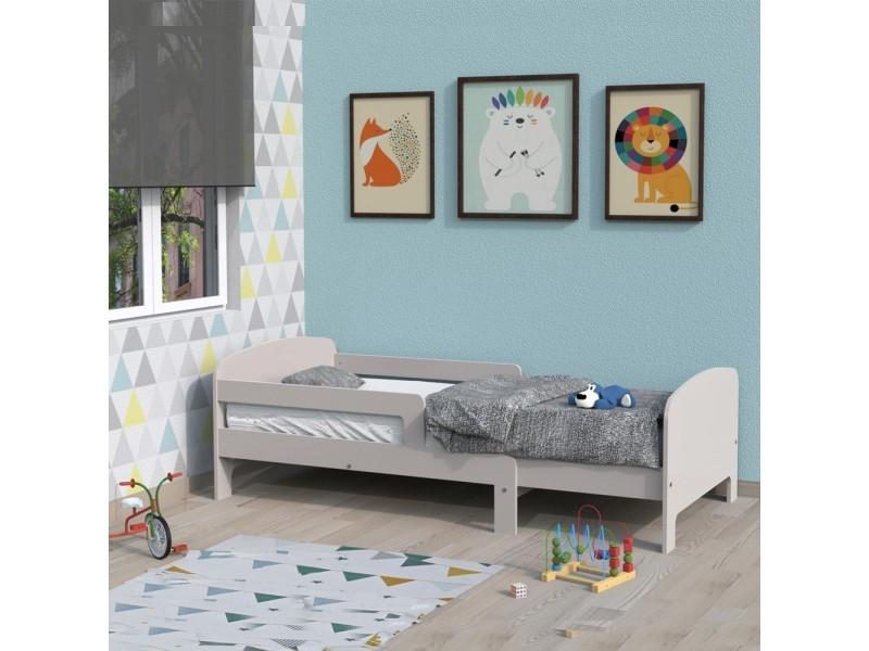 lit volutif toby 90x140 170 190 200 1 sommier laqu gris 392844z vente de lit enfant. Black Bedroom Furniture Sets. Home Design Ideas