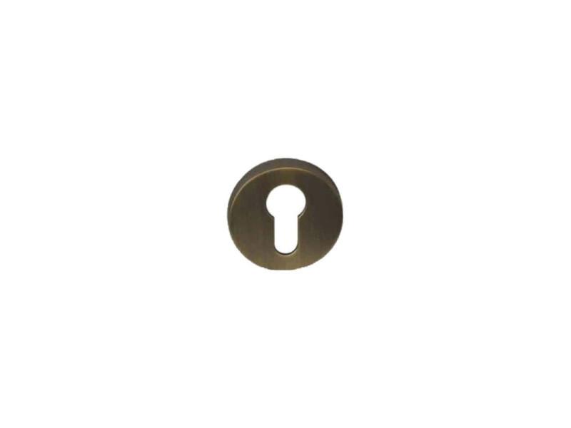 Rosaces rondes à clé l - finition bronze - diamètre 51mm x2 R1152BRO