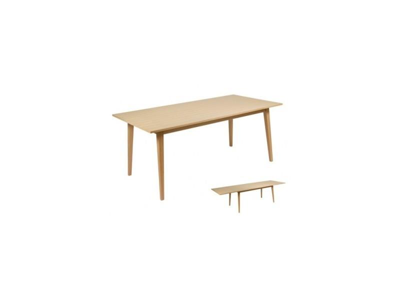 Table à manger rectangulaire rallonge aktual 180-280 cm