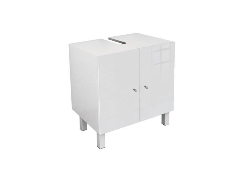 Corail meuble sous-lavabo l 60 cm - blanc laqué - Vente de ...