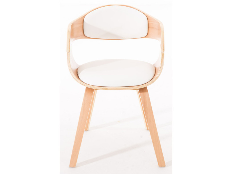 de siège blanc Chaise polyuréthane en bois visiteurs avec en l3K1TFJc