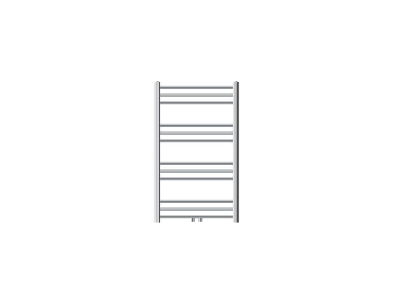 Ecd germany radiateur design sahara non electrique - 600 x 800 mm - chrome - connexion central - sans kit de raccordement - forme courbé - avec kit de montage mural - sèche-serviettes salle de bain 291002075