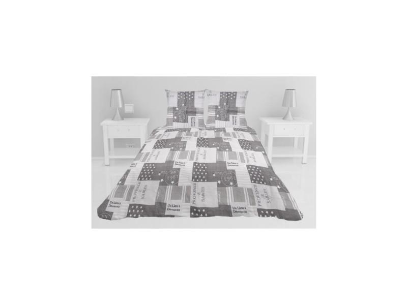 Couvre-lit boutis matelassé corinne - 240 x 260 cm - gris taupe