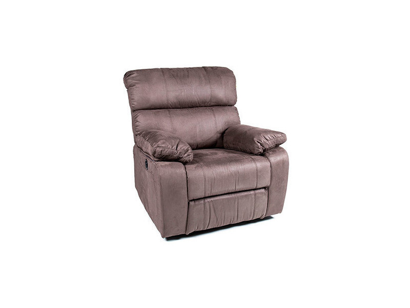 fauteuil de relaxation lectrique en microfibre marron. Black Bedroom Furniture Sets. Home Design Ideas