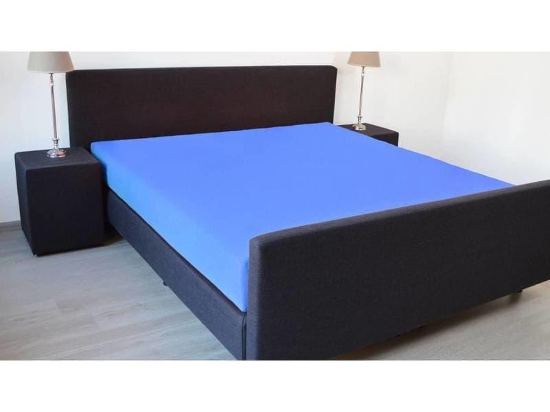 Snoozing - drap-housse en satin de coton - 140x220 cm - blau SMUL102166612