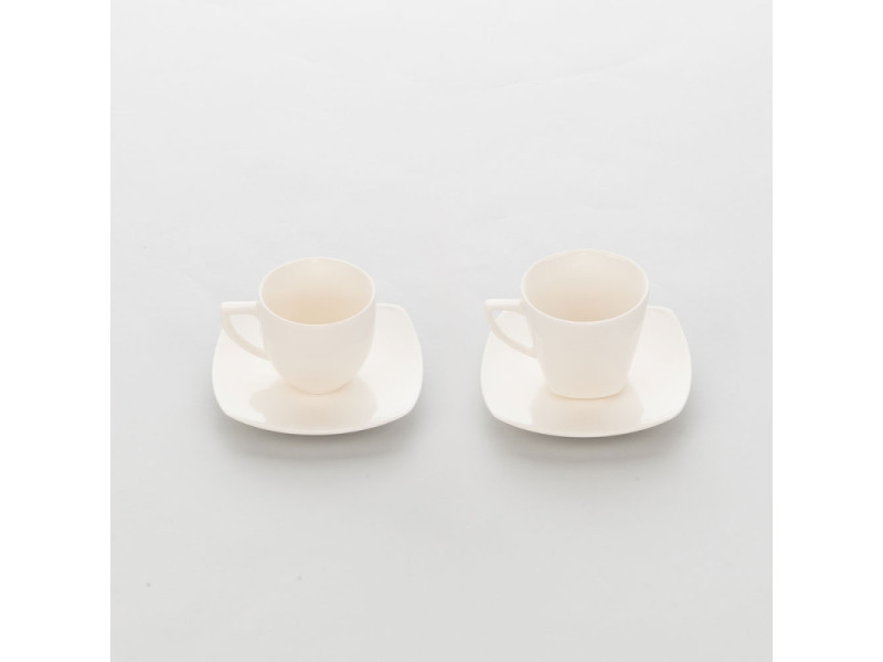 Tasse en porcelaine ecru et lisse liguria 100 ml - lot de 6 - stalgast - 6 cm porcelaine 10 cl