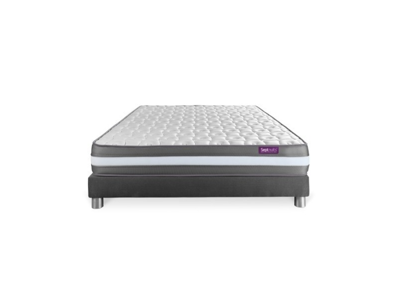matelas sommier gris 140x200 memo plus m moire de forme 3 zones 7nmemopens140200g vente de. Black Bedroom Furniture Sets. Home Design Ideas