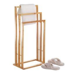 Support 3 niveaux serviettes en bambou 42x24x81.5cm