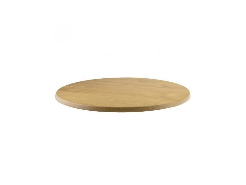 Plateau de table rond 700 mm werzalit effet chêne