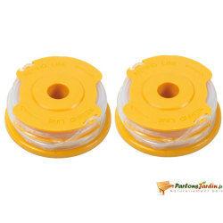 Lot de 2 bobines de fil pour coupe-bordure ø1,6mm x 4m