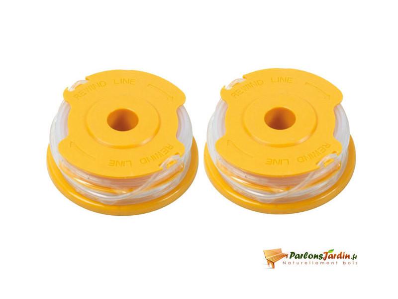 Lot de 2 bobines de fil pour coupe-bordure ø1,6mm x 4m PRWF550/T