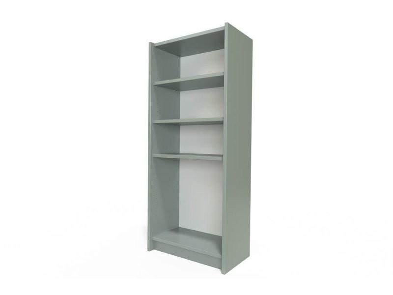 Étagère bibliothèque bois gris ETABIB-G