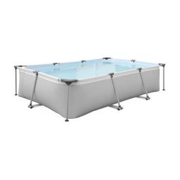 Piscine tubulaire tanzanite 6m grise piscine Piscine hors sol acier rectangulaire