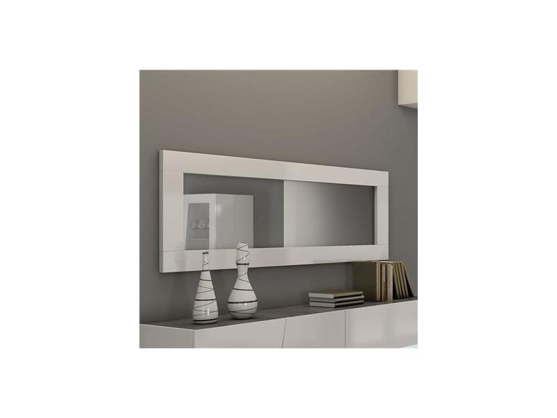 Miroir rectangulaire 180x60 cm blanc laqué design laurea