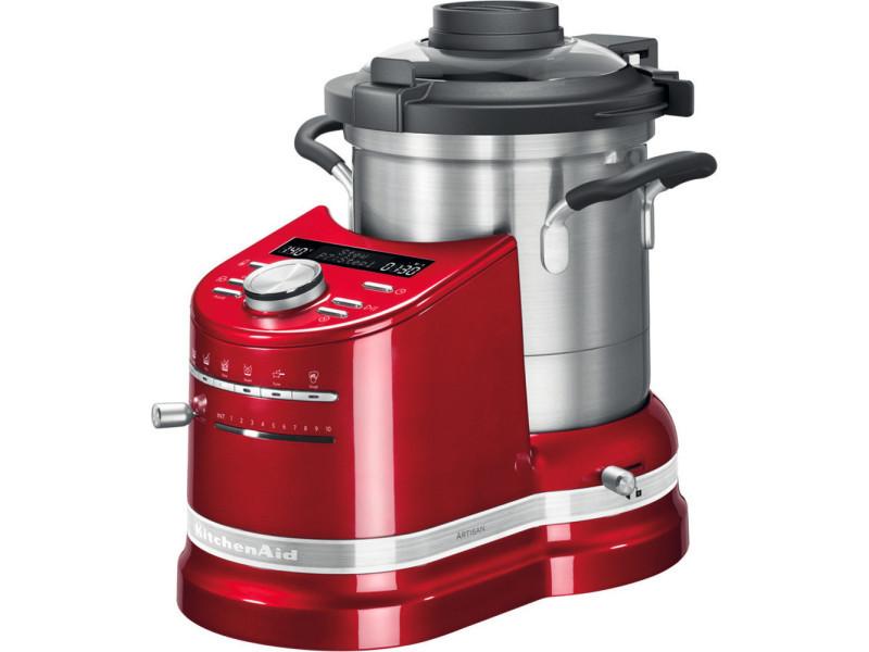Robot cuiseur tout en un de 4,5l 1500w rouge empire argent