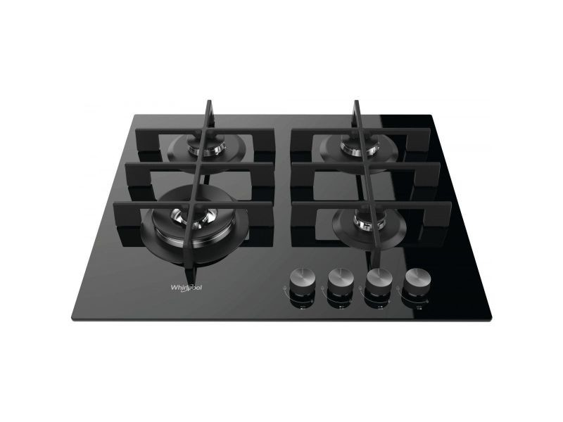 Table verre gaz 59cm 4 foyers noir - gow6423nb gow6423nb