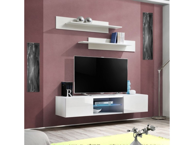 Meuble Tv Design Bono Ii 180cm Prunier Paris Prix Meubles